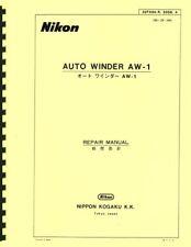 New listing Nikon Auto Winder Aw-1 Repair Manual (1976) Reprint