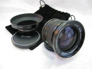 Vivitar (Kino/Kiron) 28mm f/2.5 M42 Wide-Angle Lens w/Caps, Metal Hood, Pouch EX