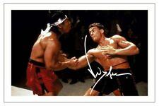 JEAN CLAUDE VAN DAMME SIGNED PHOTO 6X4 PRINT AUTOGRAPH STREET FIGHTER