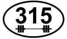 "The Original 315 Bodybuilding Car Magnets (3"" x 5"", Oval)"