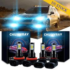 For Subaru Crosstrek 2013-2019 LED Headlight Bulb 9005 H11 High Low Beam Kit 4PC