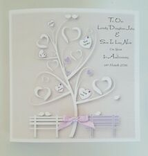 Personalised 1st Anniversary Card Daughter Son In Law ANY COLOUR ANY YEAR PERSON