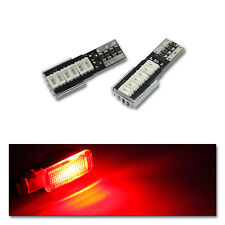 2x LED für VW AUDI SEAT SKODA original Fußraumbeleuchtung (Halogen) Farbe Rot