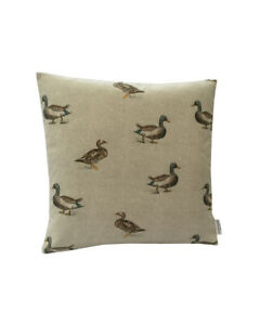 """16"""" Country Farm river pond Mallard Ducks scatter cushion covers sham made in UK"""