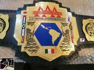 AAA Wrestling Championship Latin American Campeon Latinoamericano Leather Belt