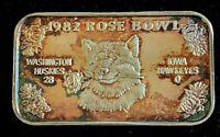 1982 Rose Bowl 1 oz .999 Fine Art Bar • Limited Edition • Toned Blue & Orange