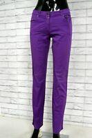 JECKERSON Pantalone Viola Donna Taglia Size 42 Jeans Pants Woman Hose Casual