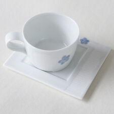 Porcelaine Blanche Collection PETALE DE FLEUR Tasse à thé avec Soucoupe