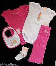 New Gymboree Seahorse Beach GIRLS Outfit Pink Lot 18 24 Pants Tops Bib Set GIFT