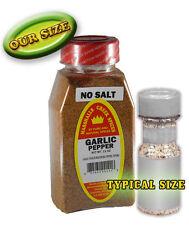 GARLIC PEPPER SEASONING NO SALT, FRESH PURE SPICES, 11 oz
