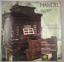 Handel: Organ Concerti Op. 4 Nos 1, 4, 5 & Op. 7 No 3/Lehotka/Qualiton Stereo NM