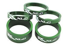 XLC AHEAD 5 PIECE HEADSET SPACER SET, 3x 5mm,1x10mm,1x 15mm ALLOY GREEN