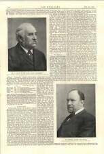 1894 Leader Williams Chief Engineer Manchester Ship Canal Marshall Stevens Mgr