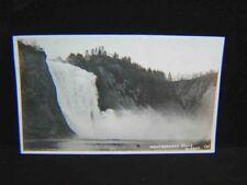 Vintage REAL PHOTO POSTCARD Montmorency Falls QUEBEC