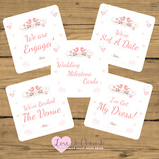 WEDDING Milestone / Journey Cards x20 - Shabby Chic Love Birds-Engagement Gift