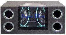 New BNPS122 Dual 12'' 1200 Watt Bandpass Speaker System w/Neon Accent Lighting