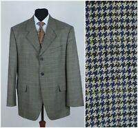 Mens CALSSICMAN SIZE XL UK 46 Houndstooth Check Wool Tweed Sports Jacket Blazer