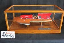 Provence Moulage built metal kit Arno X1 powerboat in wooden show case (PJBB)