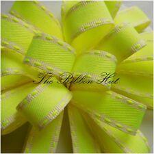15mm Florescent Neon Stitch Ribbon 4 Colours 4 Lengths by Berisfords