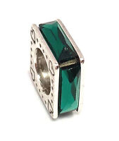 Authentic Brighton Squared Spacer Green Crystal Bead, J96314, New