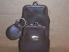 Small KL Collection purse with keychain, zipper for bills, a double opening that