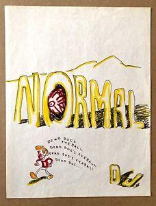 "Daniel Johnston ""Normal"" The Original Drawing circa 1979"