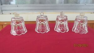 Lot of 4 Vintage Clear Tulip  Home Interior Votive Cups