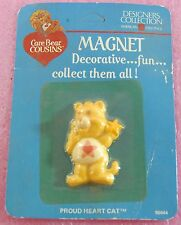 Vintage Care Bears Cousins Magnet MOC - Proud Heart Cat *Ship Free Worldwide*