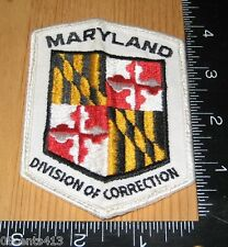 Maryland Division of Correction Police Cloth Patch Only