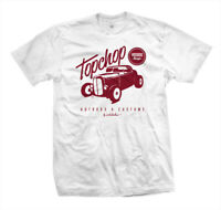 T-Shirt Top Chop | Rockabilly Hot Rat Rod US Kustom Car Flathead Ford V8 weiß