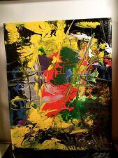 ABSTRACT ORIGINAL~ CANVAS Authentic Painting Artist MUSK YAI 16x20 2015 1oak