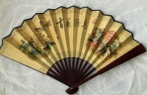 Beautiful Chinese Fabric Fold Fan quality hand fan oriental
