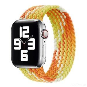 Braided Solo Loop Apple iWatch Band Fabric Nylon Elastic Series 7 6 5 4 3 Pride