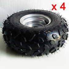 "Pack of 4 ATV 145/70-6 Tyres + 6 "" Wheel Rims For 50cc-110cc Chinese Quad Bike"