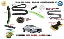 FOR  MERCEDES R172 SLK200 SLK250 2011-> TIMING + BALANCE CHAIN TENSIONER KIT SET