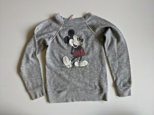 Vintage 1970s Walt Disney Character Mickey Mouse Gray Kids Sweatshirt Size Large