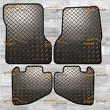 3141 JEEP WRANGLER TJ TAILORED RUBBER CAR MATS WITH BLACK TRIM 1997 TO 2007