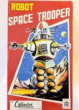 Space Trooper Red Tin Toy Great Gift Item And Collectors Item Wind Up Tin Toy