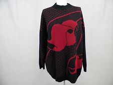 Distinctly Different Sweater  Red/Black Pull Over  Women's Sz 20W
