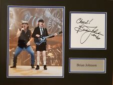 BRIAN JOHNSON Signed 16x12 Photo Display ACDC HIGHWAY TO HELL COA