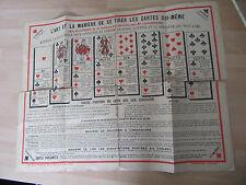 AFFICHETTE 1900 L'ART DE TIRER LES CARTES TAROT CARTOMANCIE
