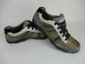 SKECHERS Brown Grey Multi Color Leather Lace Up Casual Shoes Men's Size 12