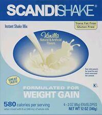 ScandiShake Instant Shake Vanilla Mix Weight Gain 4 x 3 Oz Envelopes (1 box )