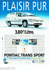 PUBLICITE ADVERTISING 026  1995   Pontiac  monospace Trans Sport