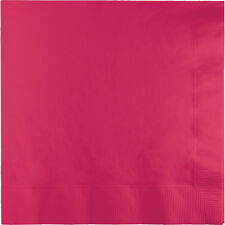 """25 Hot Magenta Pink Birthday Party Tableware 8"""" Paper 3ply Dinner Napkins"""