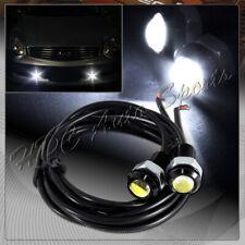 2 X 18MM 9W 12v White LED Eagle Eye DRL Daytime Running Lights Lamps Universal 2
