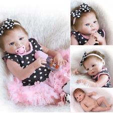 """23"""" Real Lifelike Soft Silicone Reborn 22"""" Doll Baby Girl Sleeping Newborn Dolls"""