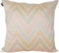 MISSONI HOME PILLOW COVER EMBROIDERED COTTON SATEEN  JAYLIN 213 40x40 cm