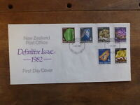 NEW ZEALAND 1982 DEFINITIVES GEMSTONES SET 6 STAMPS FDC FIRST DAY COVER