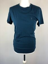 Mens ALL SAINTS Top Logo Shirt Blue Summer Holiday Party Casual Polo XS